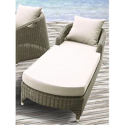 Chaise longue de transat relax jardin fauteuil for Chaise longue resine tressee