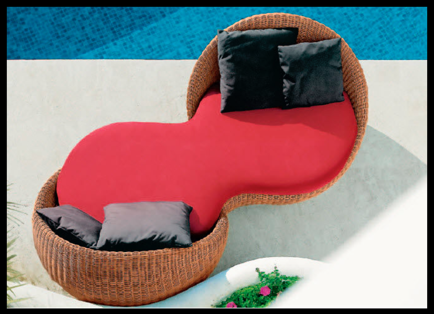 chaise longue de transat relax jardin fauteuil piscine en resine tressee maroc. Black Bedroom Furniture Sets. Home Design Ideas
