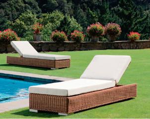Chaise longue de piscine transat relax jardin for Transat piscine resine tressee