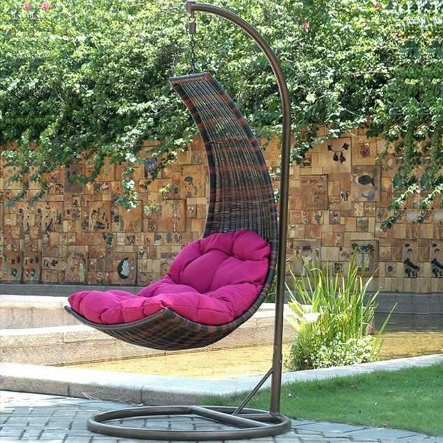 Balancelle de jardin en r sine tress e salon canape fauteuil pot mobilier meubles de - Balancelle exterieur jardin ...