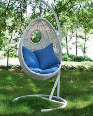 Salon canape fauteuil pot mobilier meubles de jardin en resine tres - Balancelle resine tressee ...