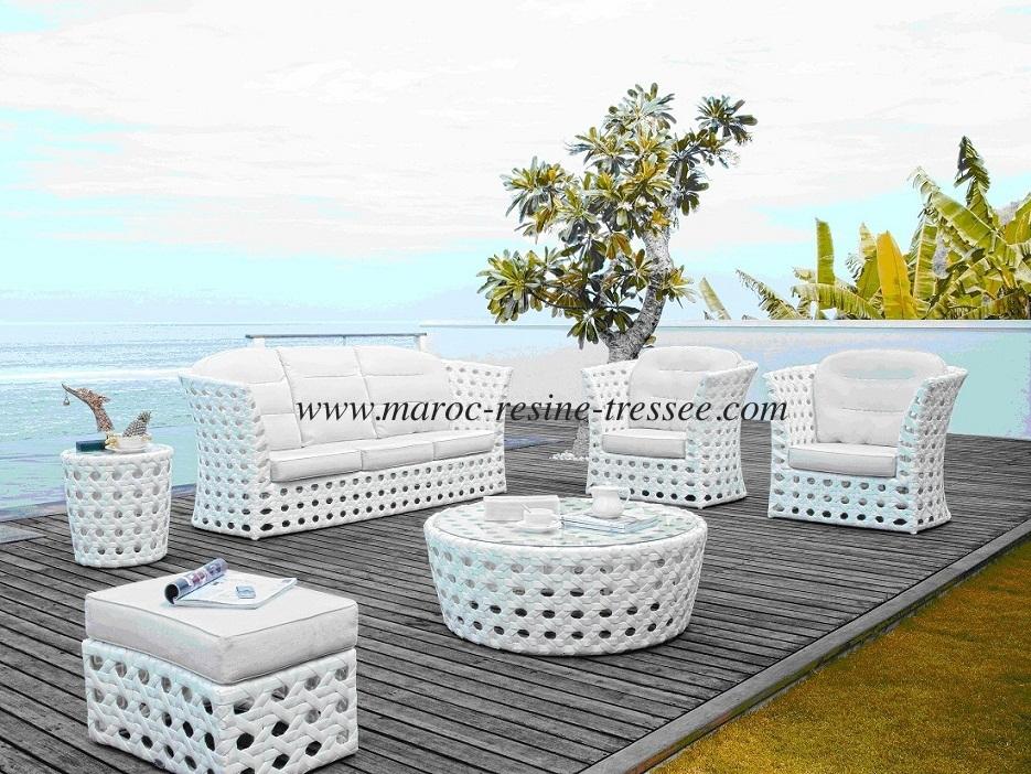Salon canape fauteuil pot mobilier meubles de for Meuble jardin resine